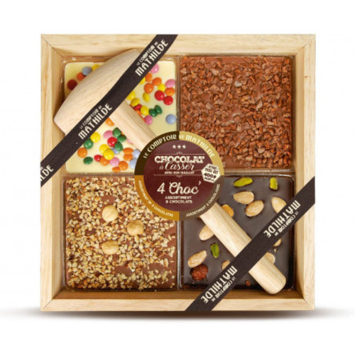 Comptoir de Mathilde Chocolade cadeautje - Mix pakket Puur, Melk en Witte Chocolade