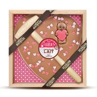 Chocolade geschenk Liefde - Melk Chocolade Hartje en Beertje