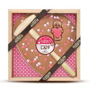 Comptoir de Mathilde Chocolade geschenk Liefde - Melk Chocolade Hartje en Beertje