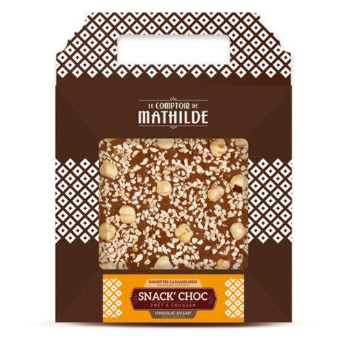 Comptoir de Mathilde Chocolade cadeautje - Melk Chocolade met Hazelnoot