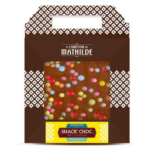 Comptoir de Mathilde Chocolade cadeautje - Melk Chocolade met Choco Snoepjes