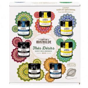 Comptoir de Mathilde Groot Thee cadeaupakket - 7 losse thee smaken incl infuser