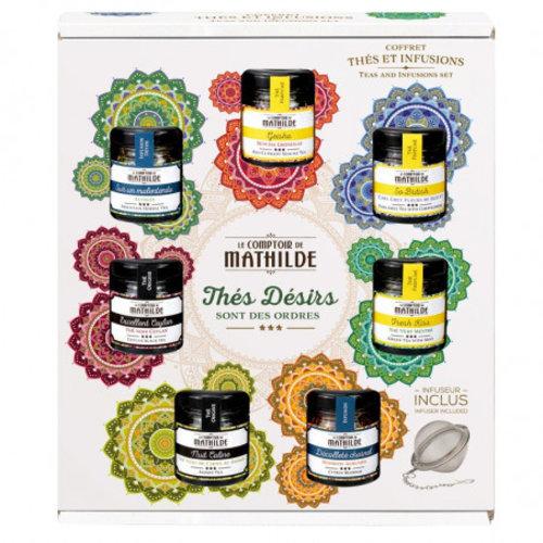 Comptoir de Mathilde Groot Thee cadeau pakket - 7 losse thee smaken incl infuser - Geschenkpakket