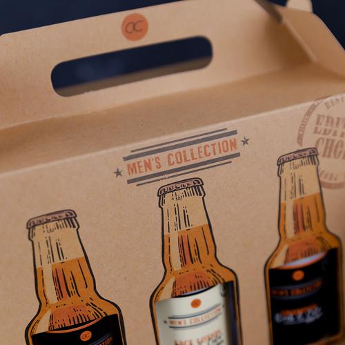 Men's Collection Stoere badset in kratgeschenkverpakking van kraftpapier - Men's Collection - Leuk cadeau voor hem