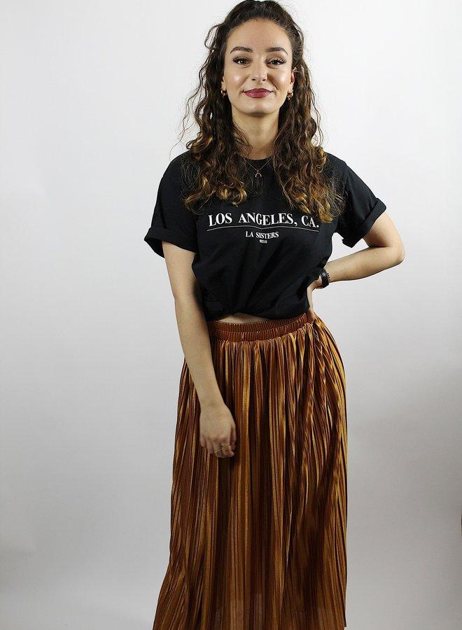 Noor Midi Skirt Brown
