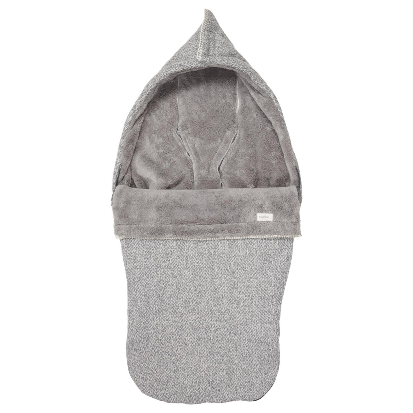 KOEKA Buggy voetenzak teddy Vigo   Sparkle grey/steel grey