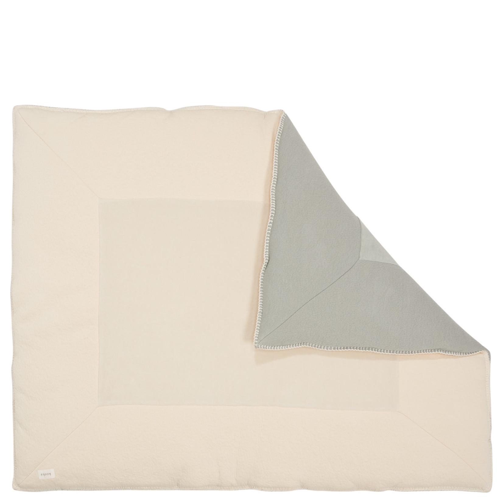 KOEKA Boxkleed Runa   Leaf/warm white