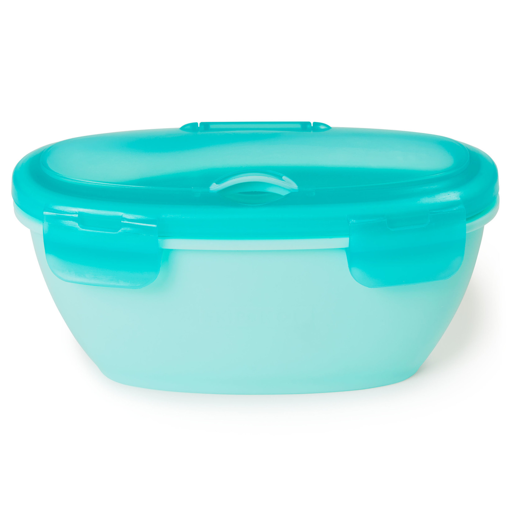 SKIP HOP Easy-Serve Travel Bowl & Spoon- Grey/Soft Teal