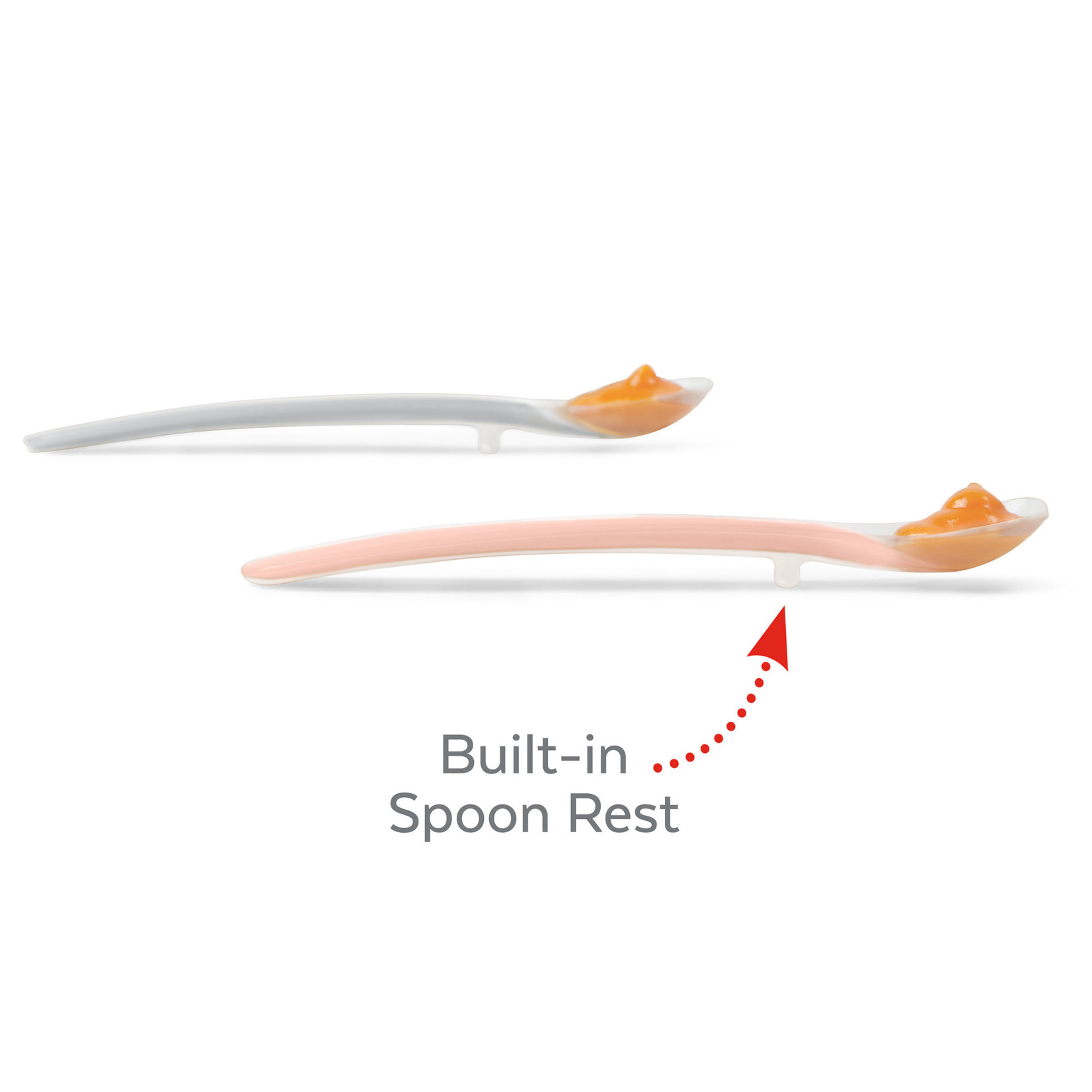 SKIP HOP Easy Feed Spoons Grey/soft Coral