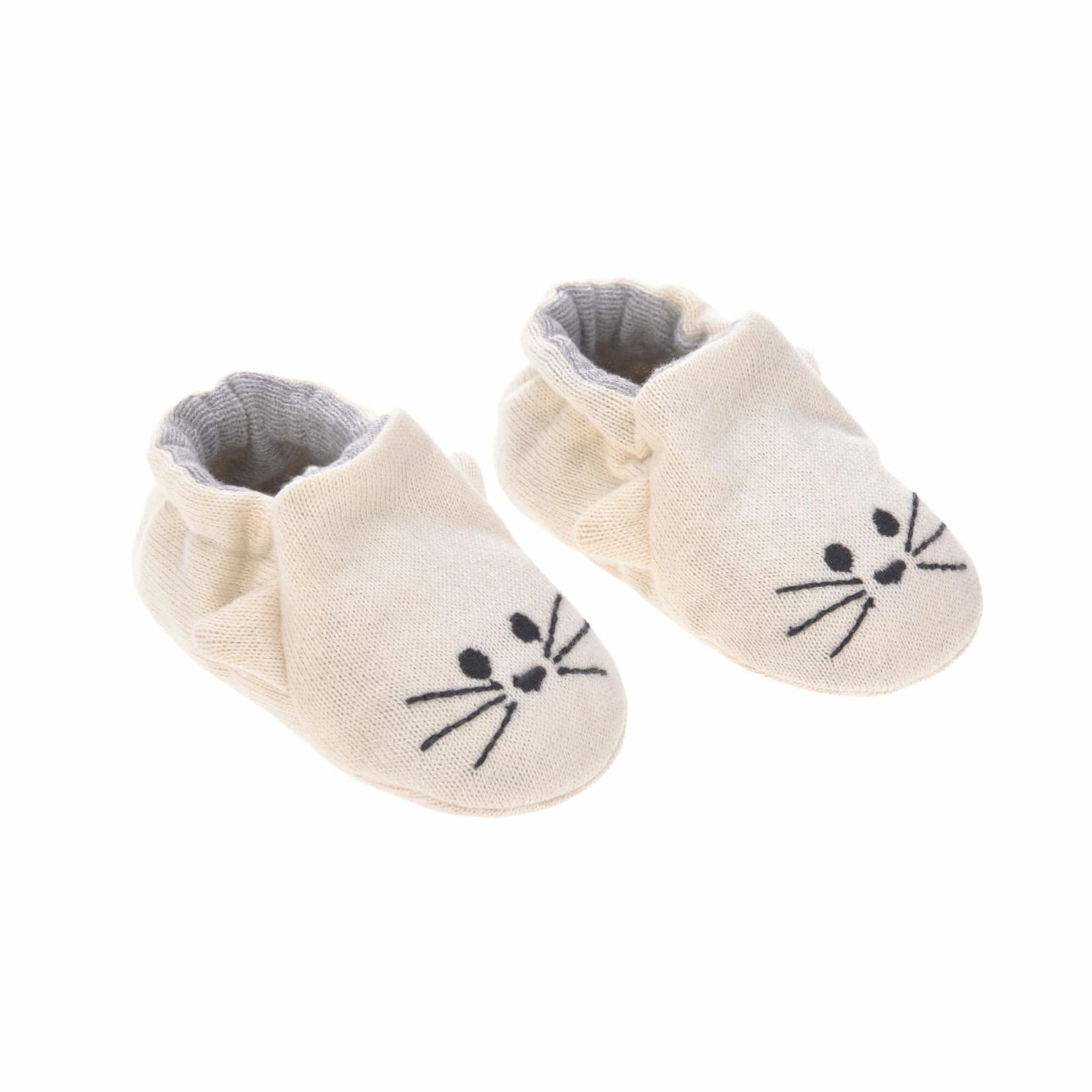 Lässig Baby Shoes GOTS Little Chums Cat, One Size