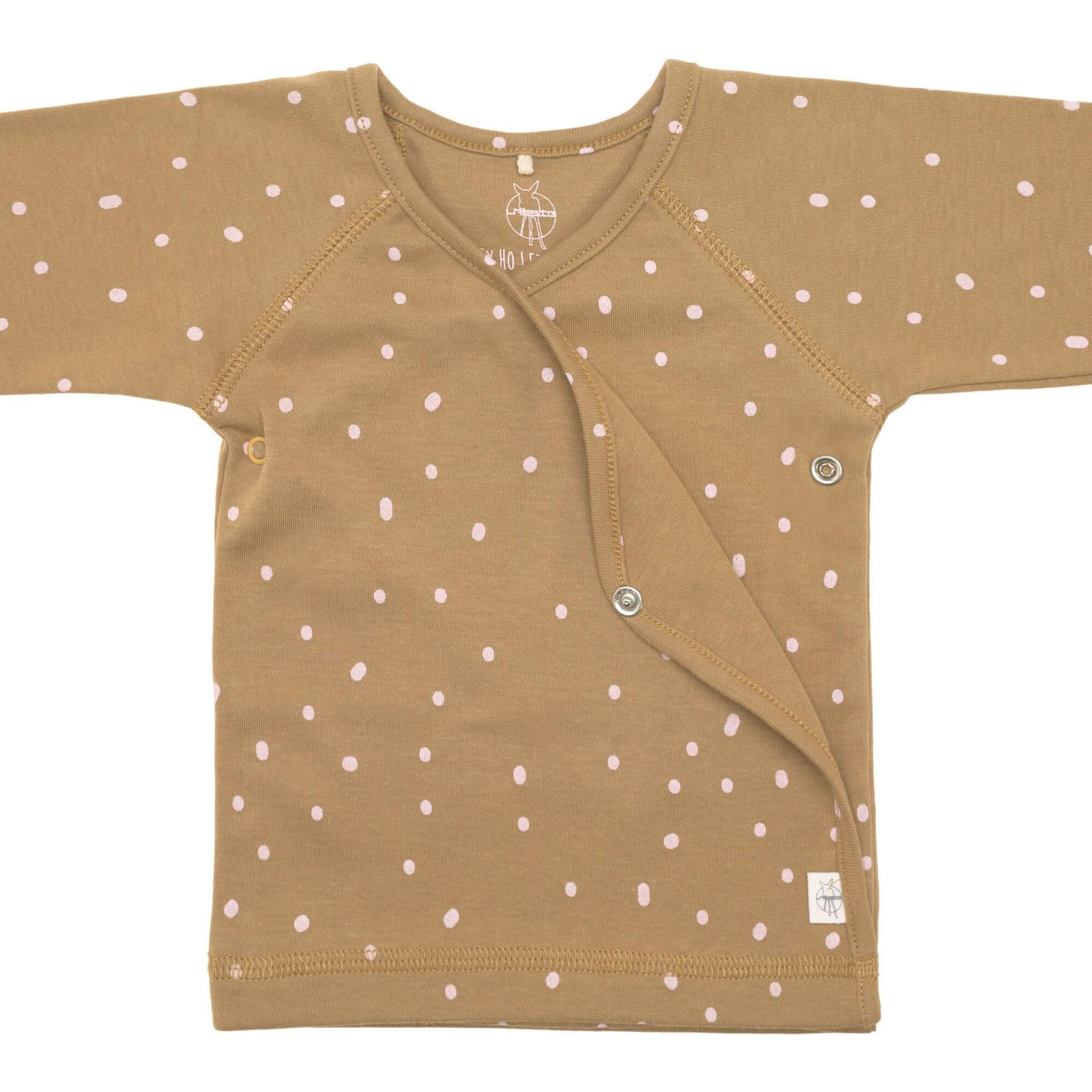 Lässig Kimono shirt Gots  Dots curry