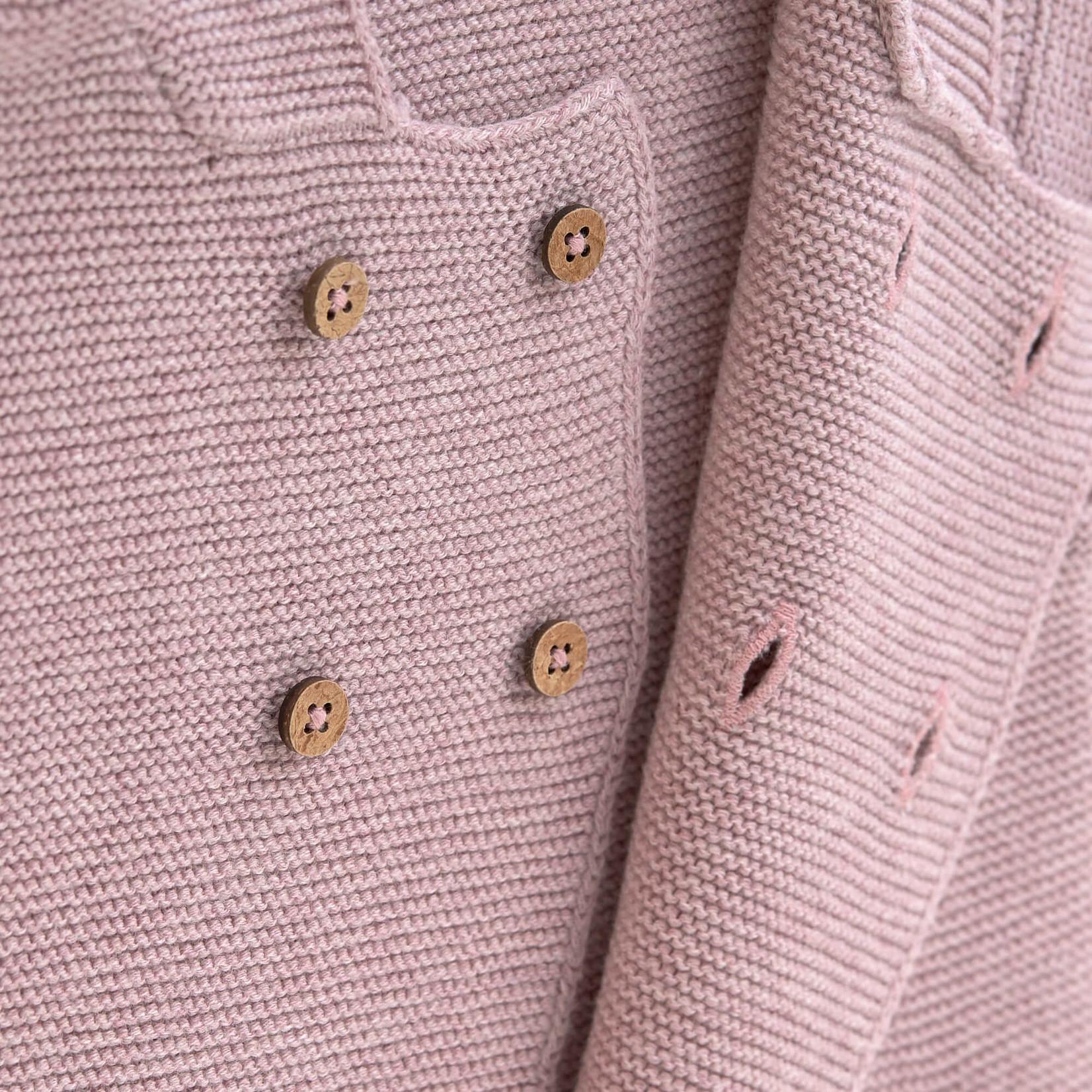 Lässig Knitted Hoodie Gots  Garden Explorer   Light Pink