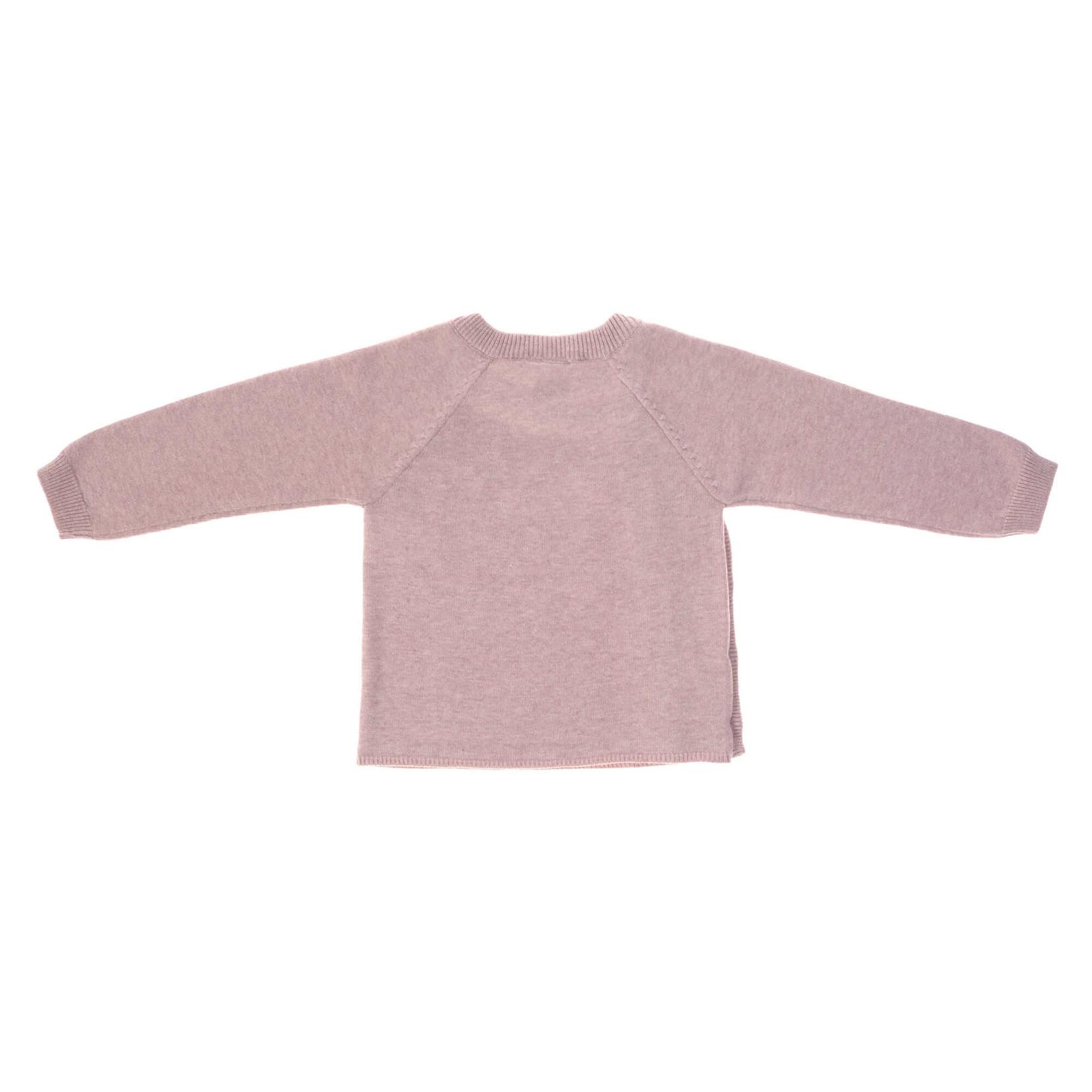 Lässig Knitted kimono Gots  Garden Explorer  Light Pink