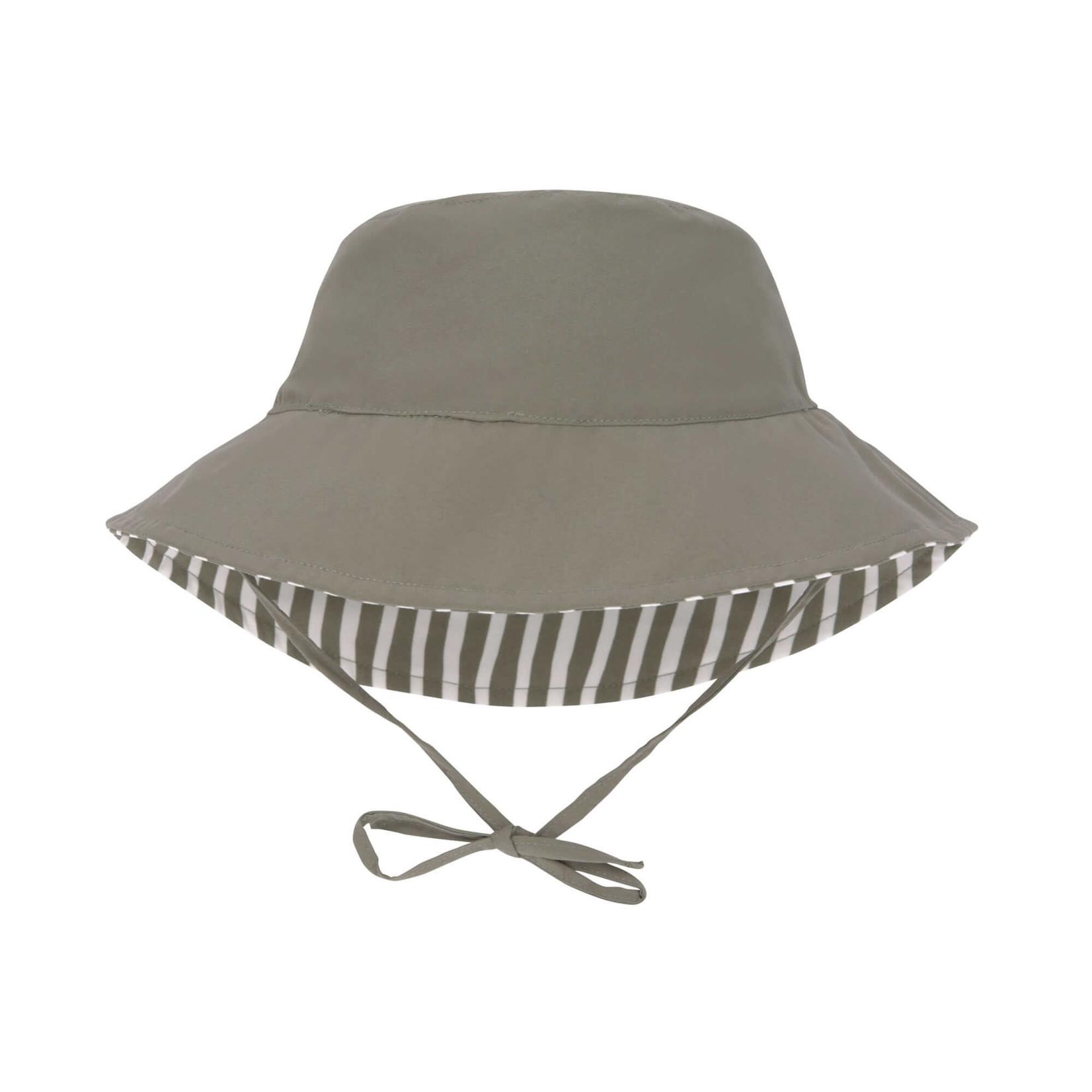 Lässig LSF Sun Protection Bucket Hat  Stripes  Olive