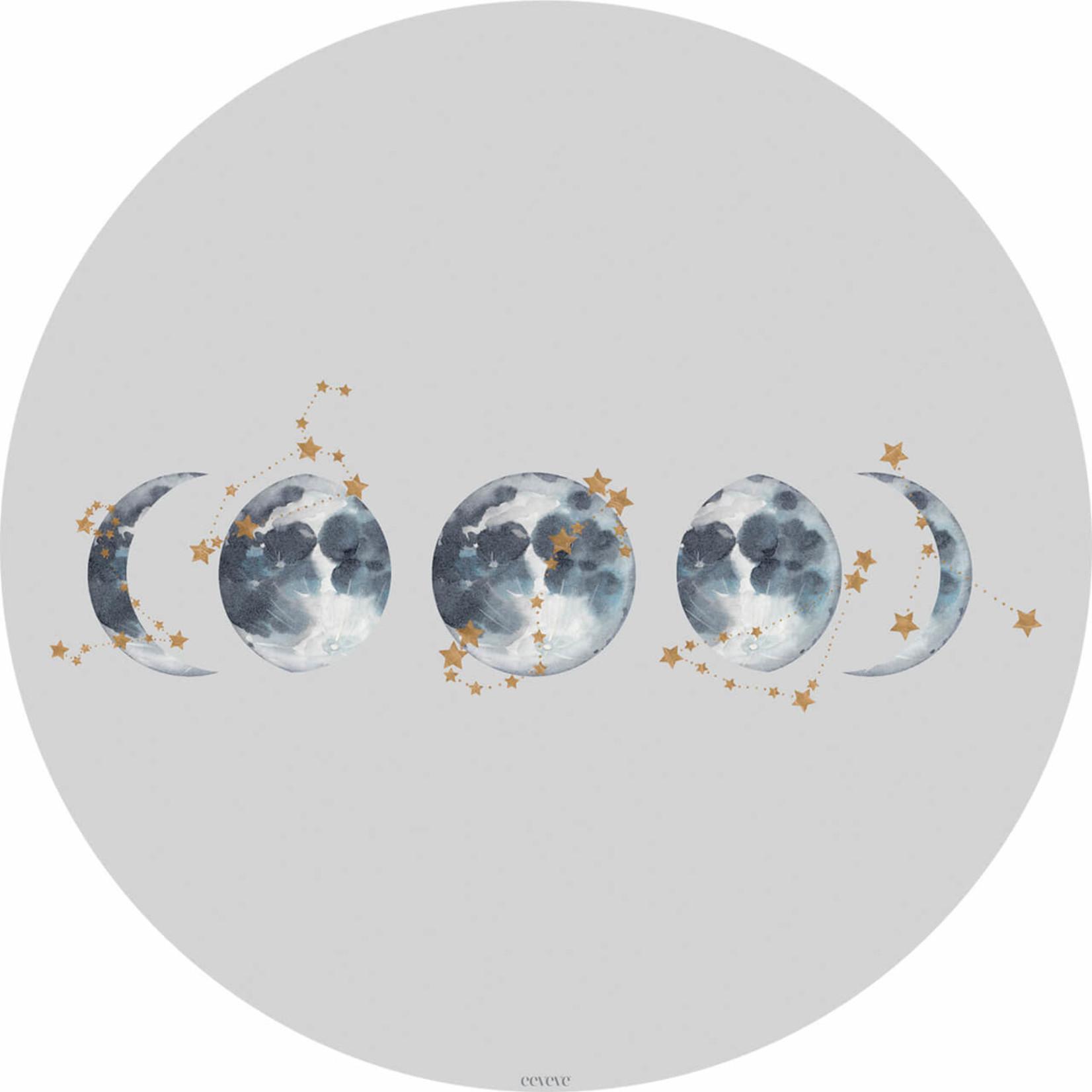 Eeveve Eeveve Round Splash Mat Lunar Eclipse - Light gray
