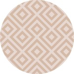 Eeveve Eeveve Round Splash Mat Modern Blocks - Desert Sand