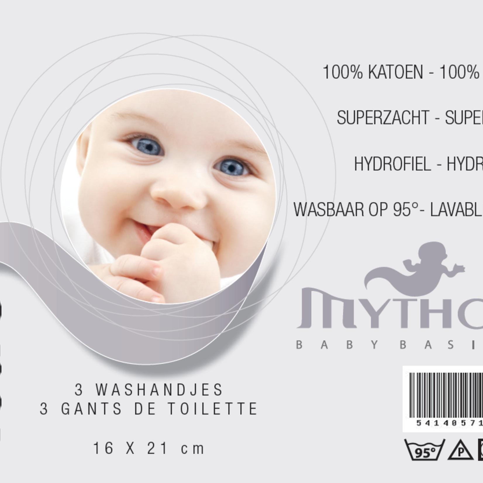 Mythos Mythos Tetra Washandjes Set 3 St. 16x21