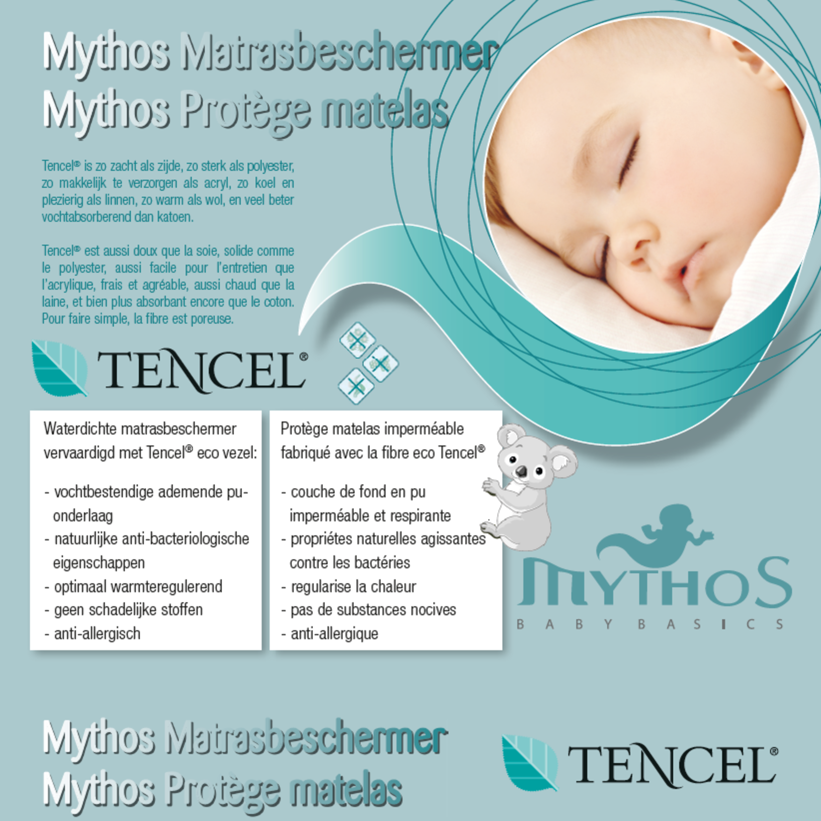 Mythos Mythos Matrasbeschermer Ademend Tencel