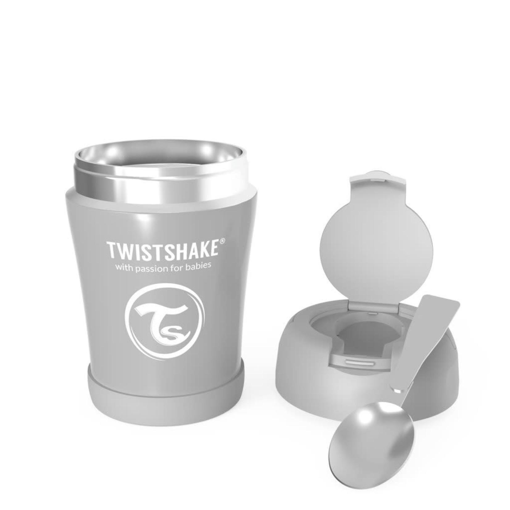 Twistshake VOEDINGSDOOS PASTEL GRIJS