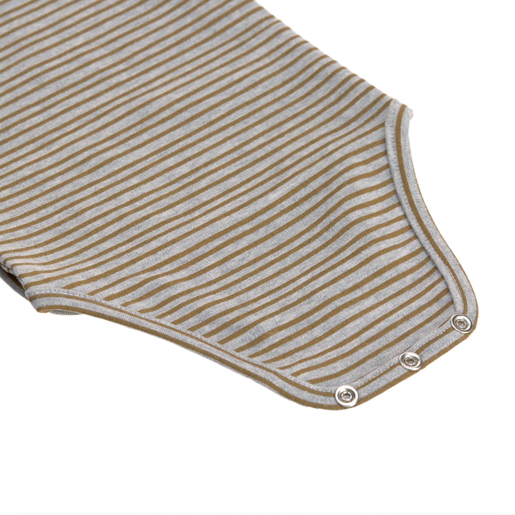 Lässig Short Sleeve Body Gots  Striped Grey Melange