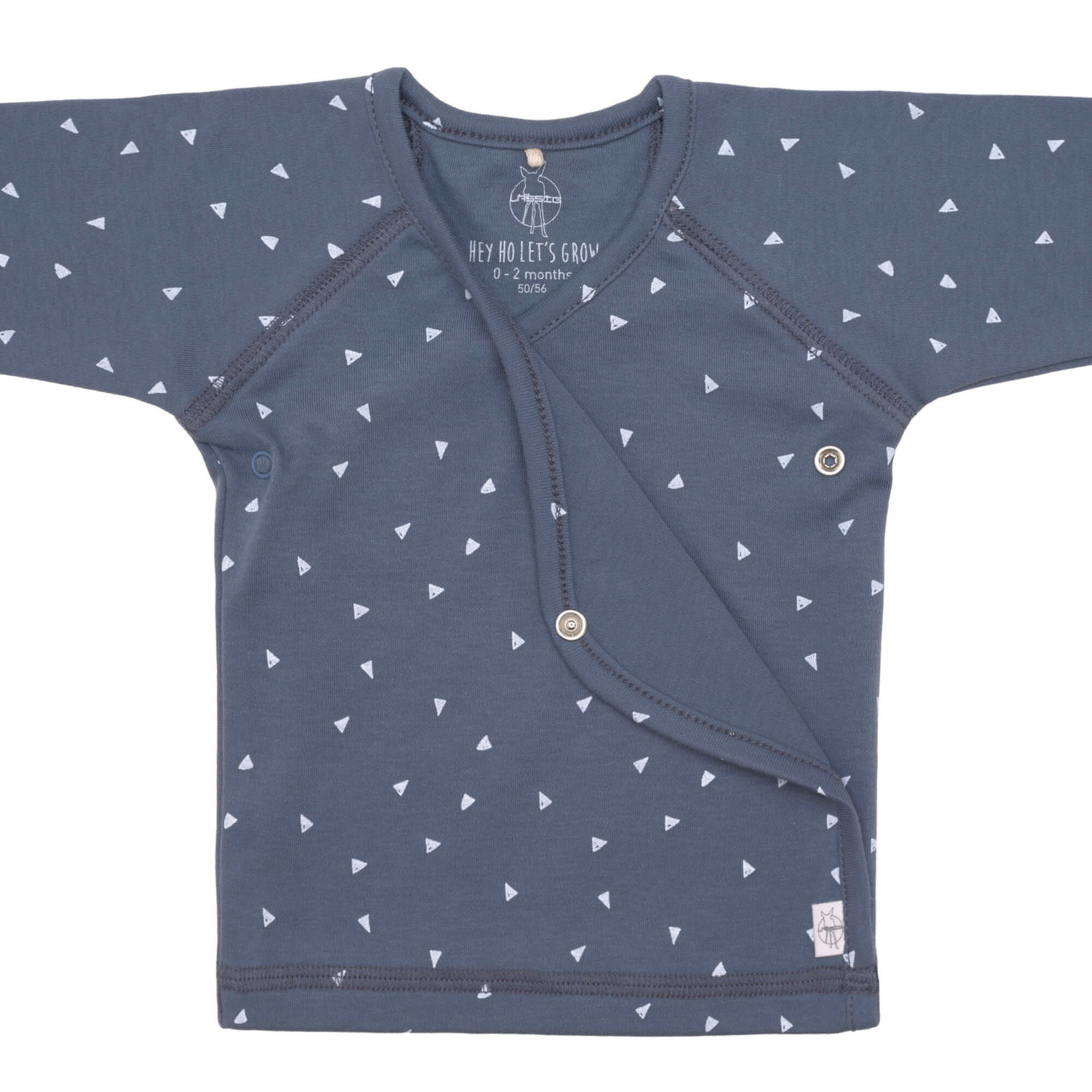 Lässig Kimono Shirt Gots  Triangle Blue