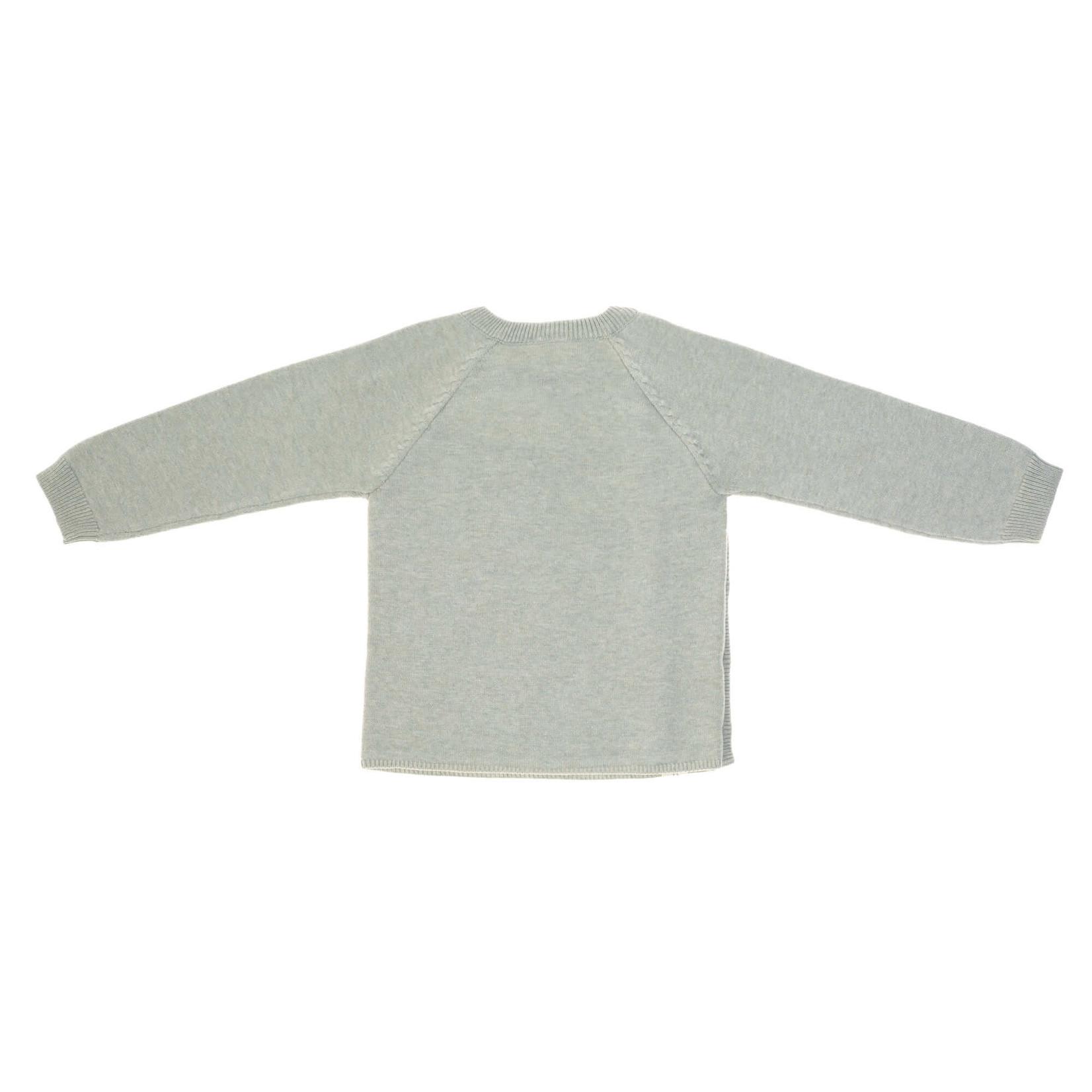 Lässig Knitted Kimono Gots  Garden Explorer  Aqua Grey