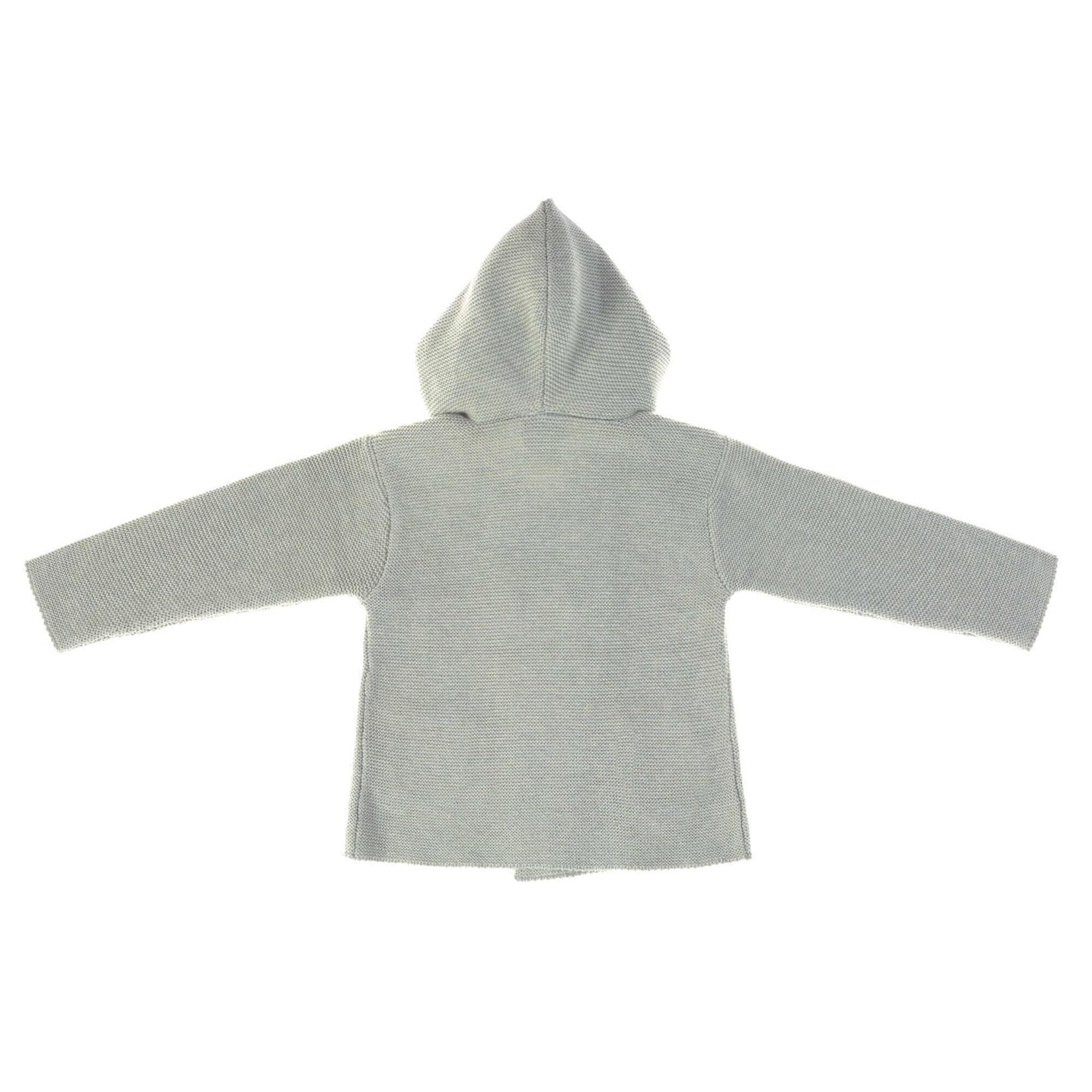 Lässig Knitted Hoodie Gots  Garden Explorer  Aqua Grey