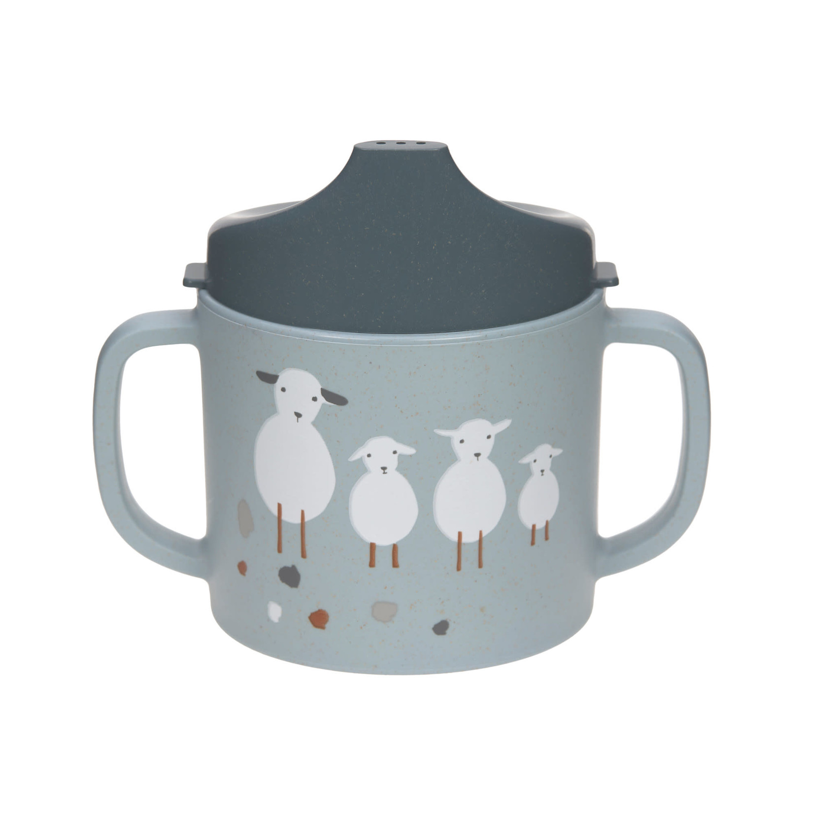 Lässig Sippy Cup PP/Cellulose  Tiny Former Sheep /Goose Blue