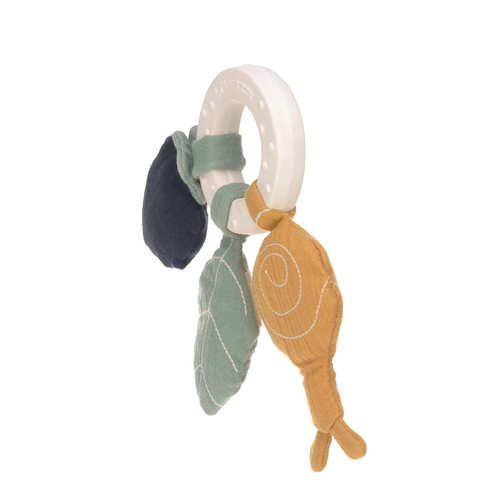 Lässig Teether Ring Natural Rubber Snail