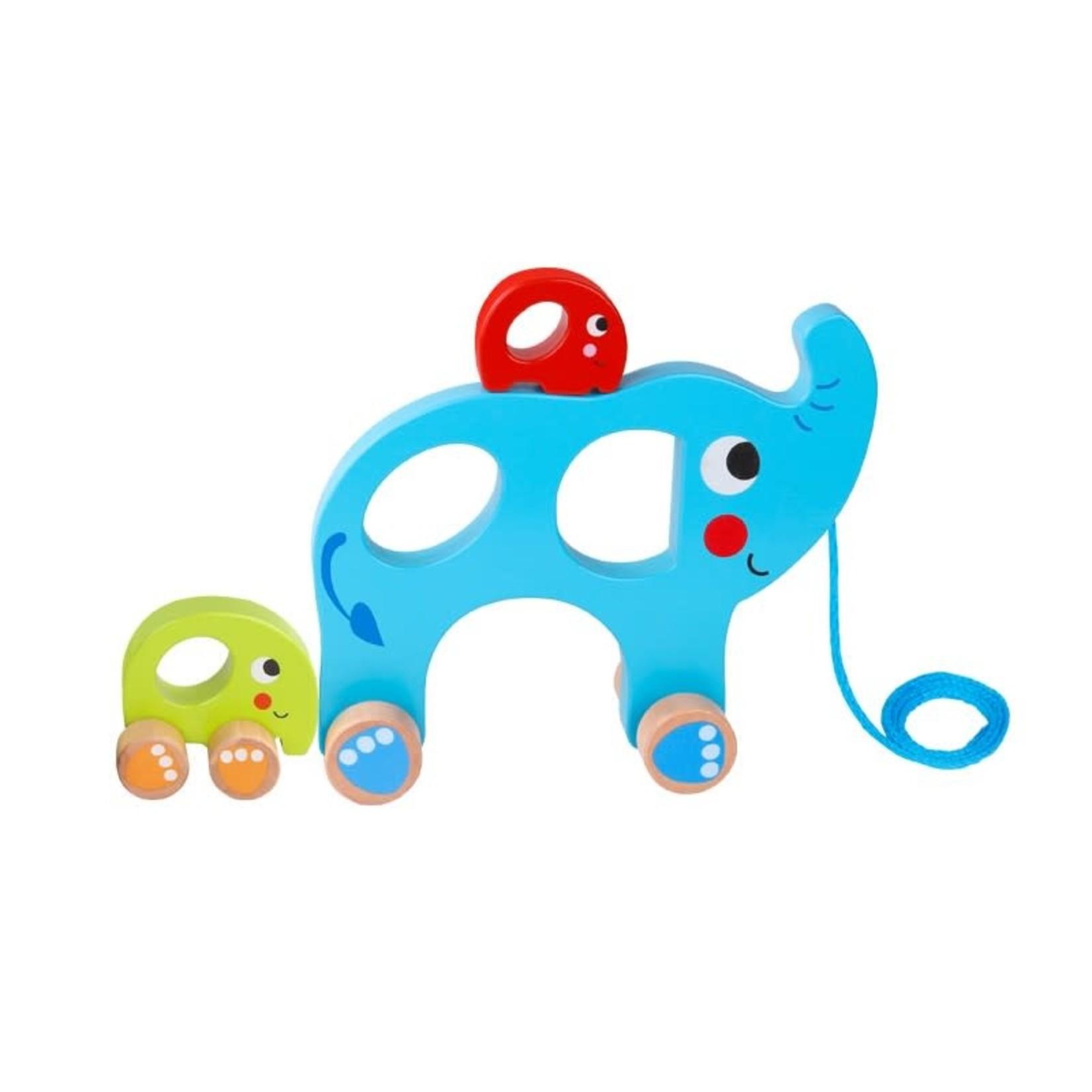 Tooky Toy Pull Along - Elephant Family