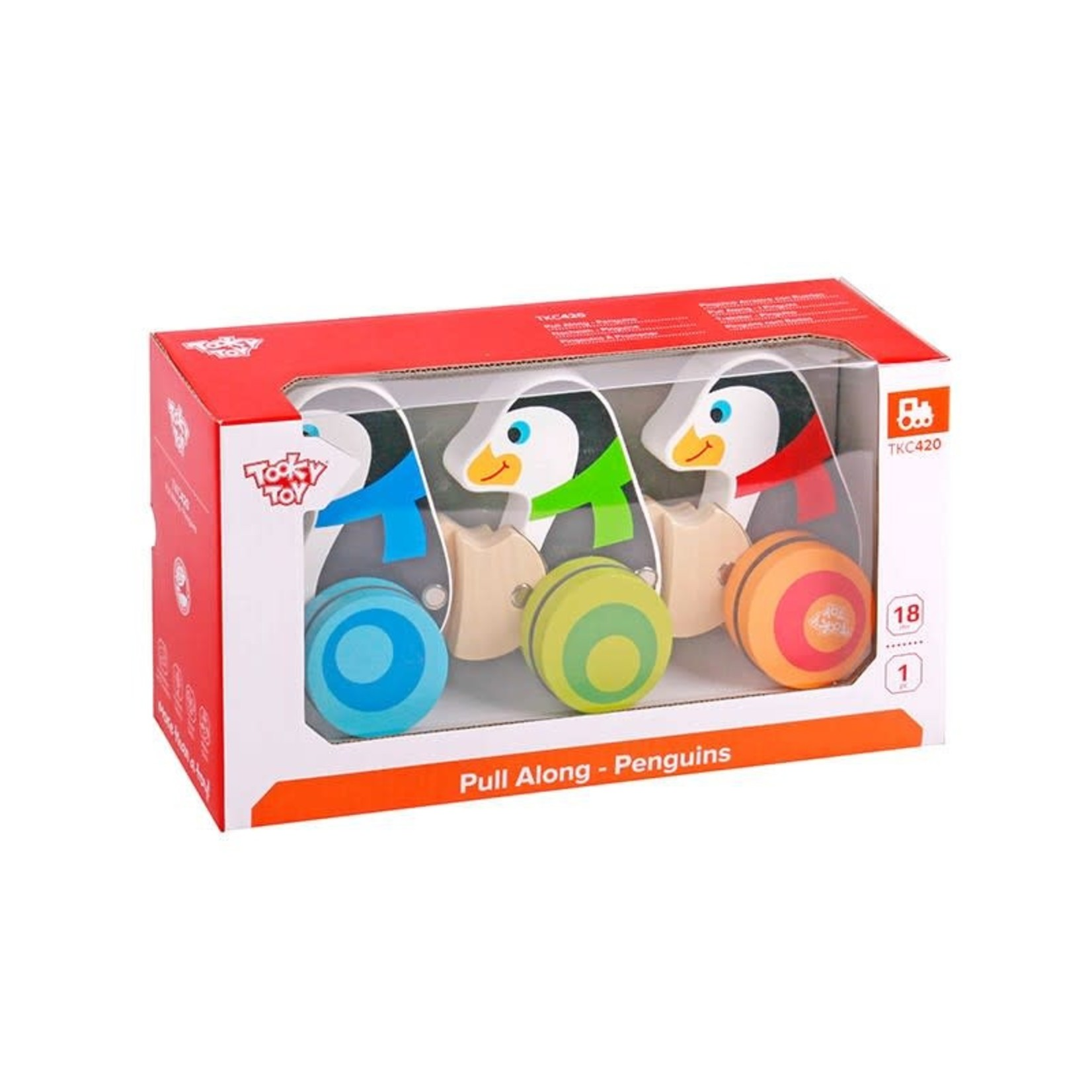 Tooky Toy Pull Along - Penguins