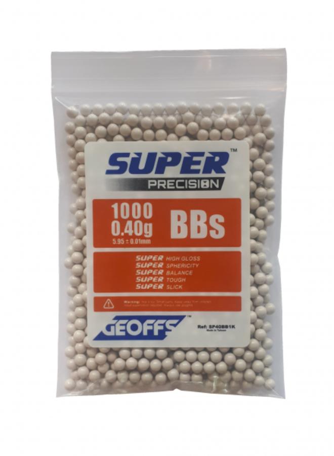 GEOFFS™ SUPER PRECISION™ BBS 0.40G 1000 WHITE