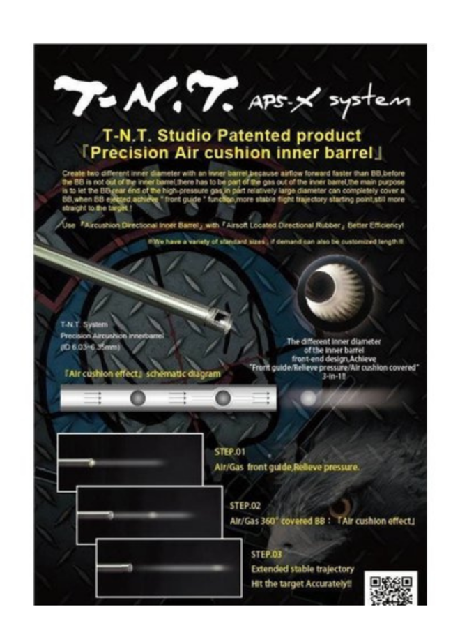 TNT 420mm S+ SRS/AEG Barrel