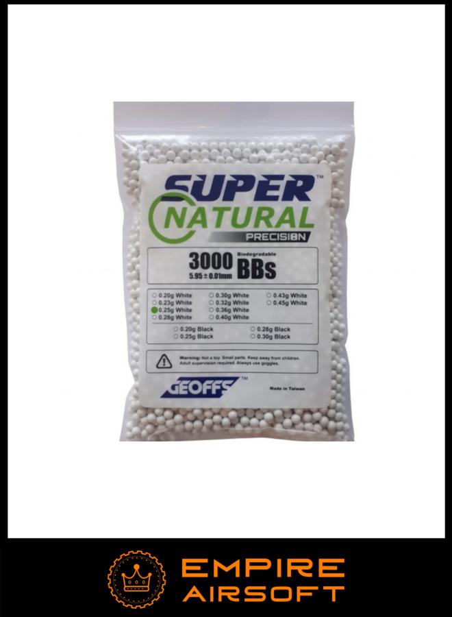 SUPER NATURAL PRECISION™ Bio BBs 0.25g 3000 White