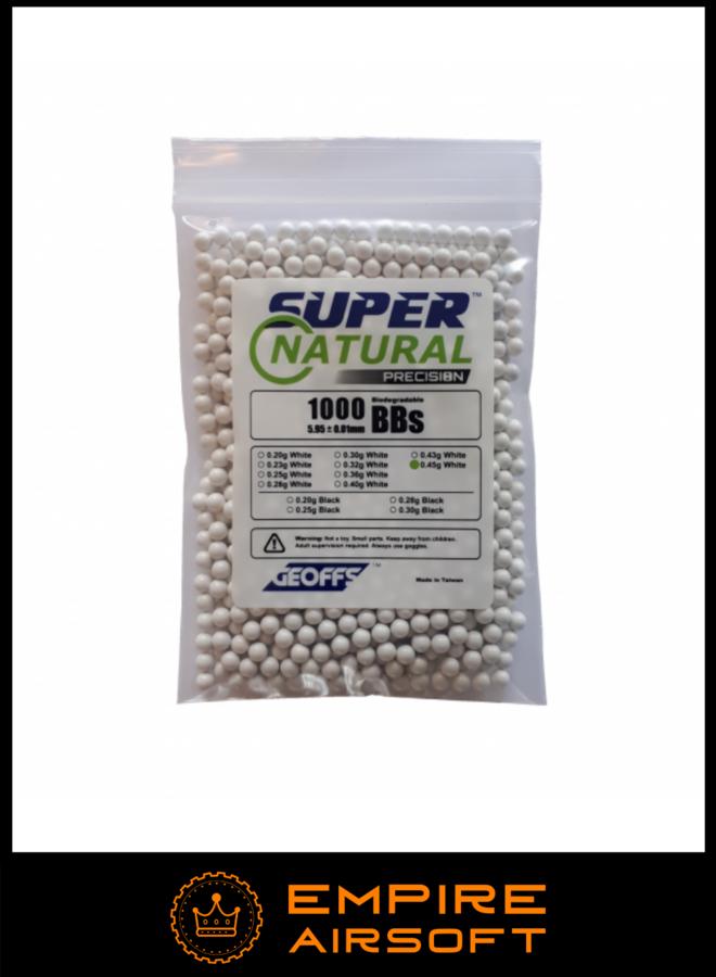 SUPER NATURAL PRECISION™ Bio BBs 0.45g 1000 White