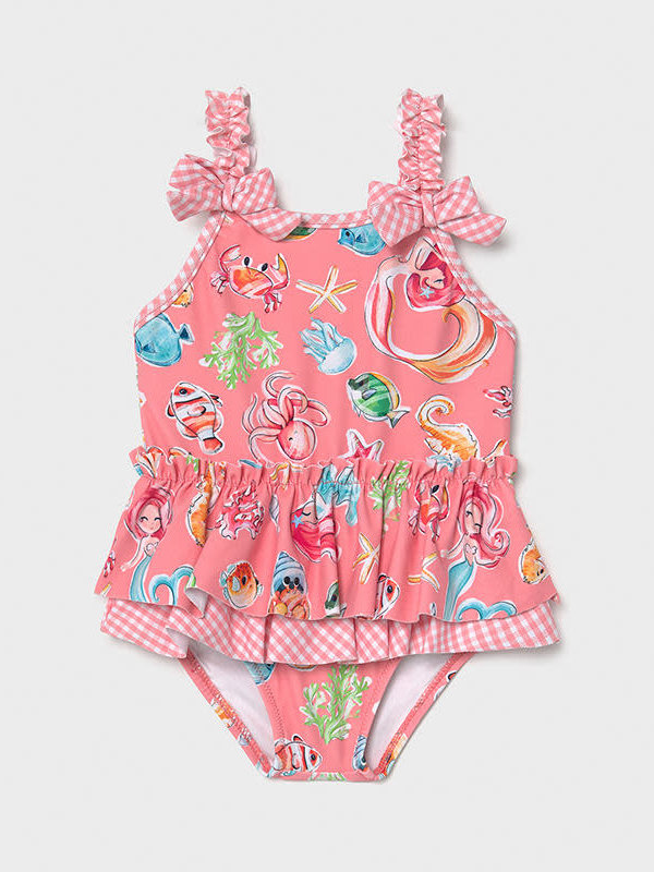 Mayoral Girl swimsuit Flamingo
