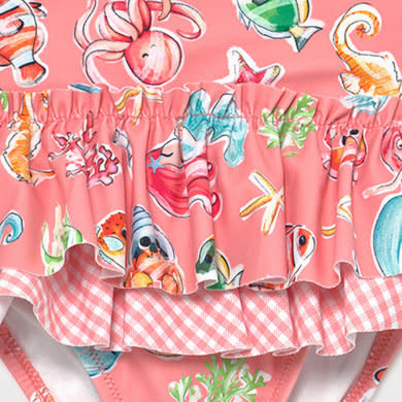 Mayoral Girl swimsuit Flamingo