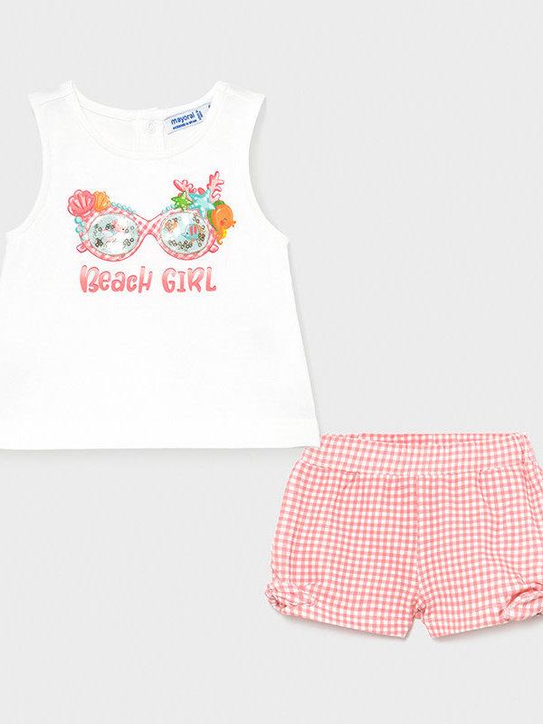 Mayoral Shorts set   Flamingo Mayoral