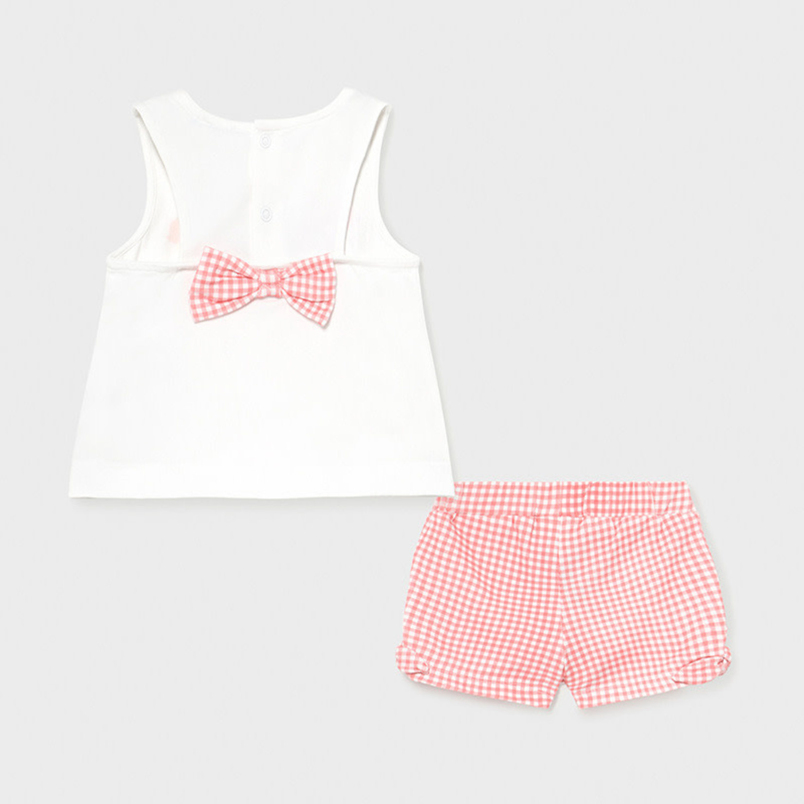Mayoral Shorts set   Flamingo