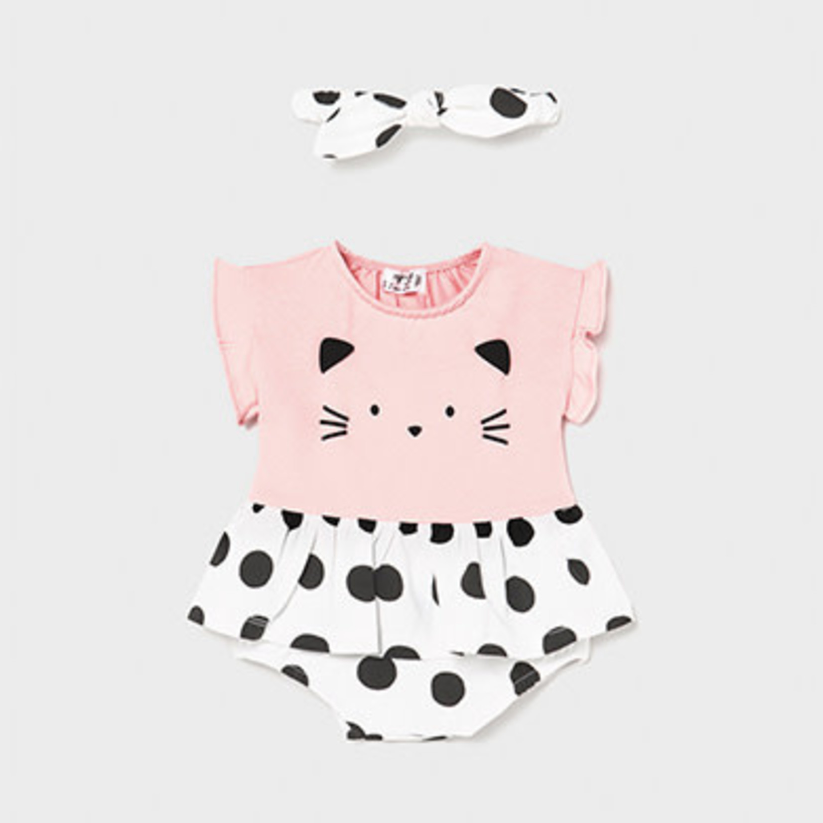 Mayoral skirt onesie with headband   Black