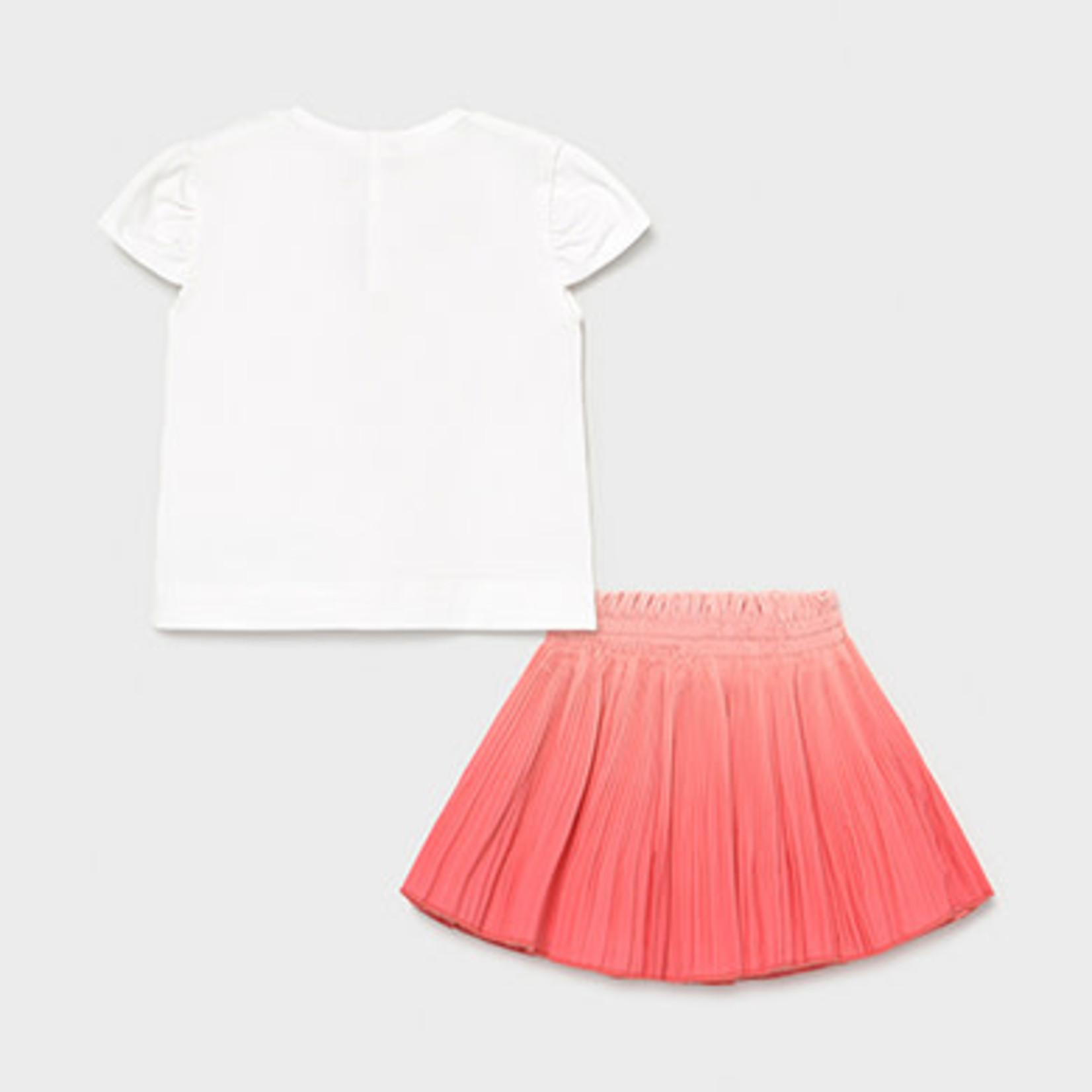 Mayoral skirt set   Coral