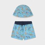 Mayoral bathing suit and hat set     Lavender