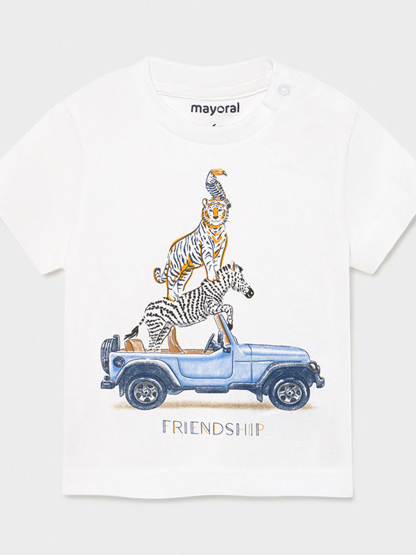 "Mayoral s/s t-shirt ""friendship""     White"