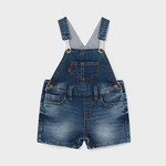Mayoral soft denim short overall     Denim