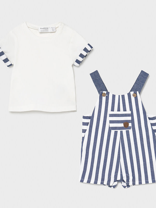 Mayoral Overall and t-shirt set      Blue