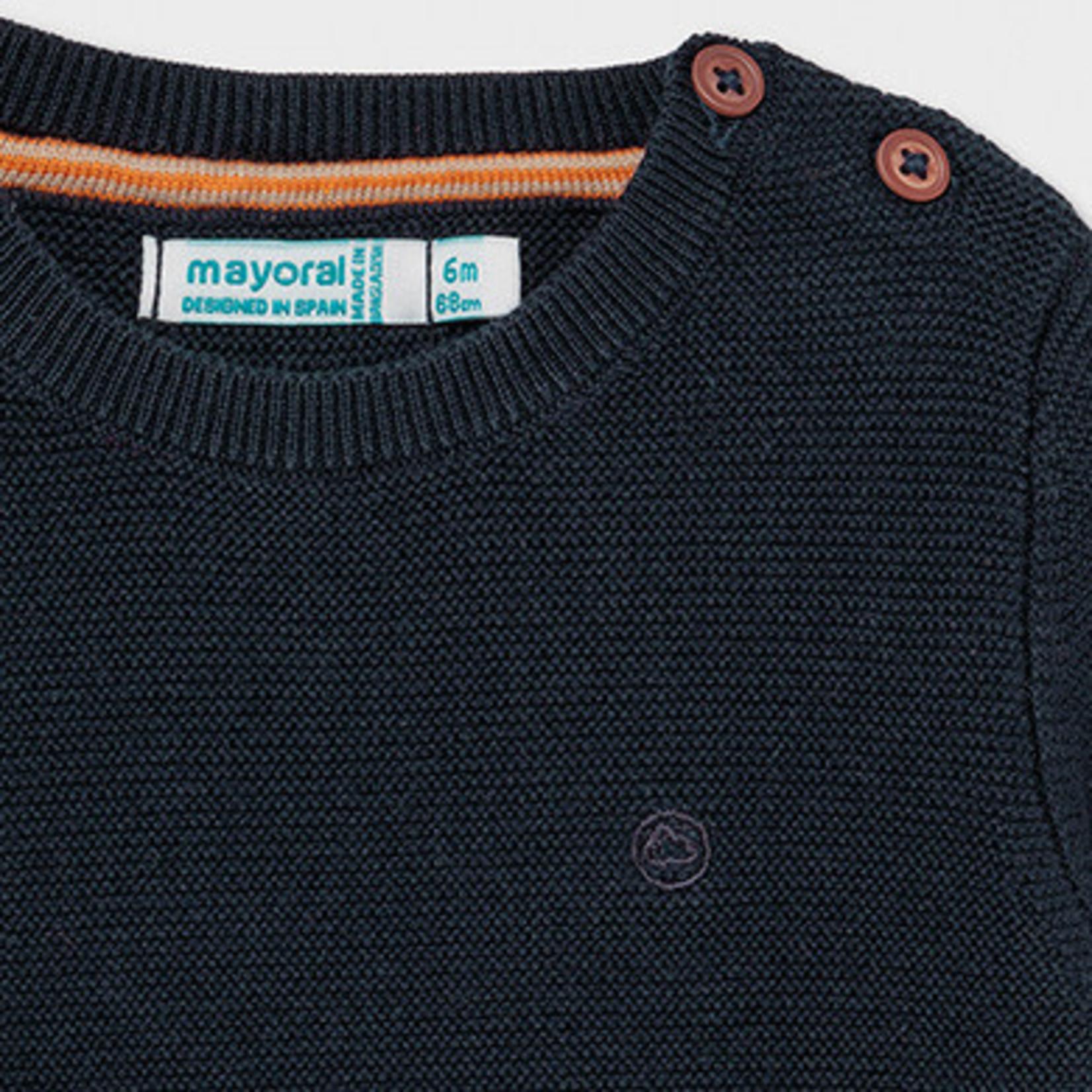 Mayoral Basic cotton sweater    Navy