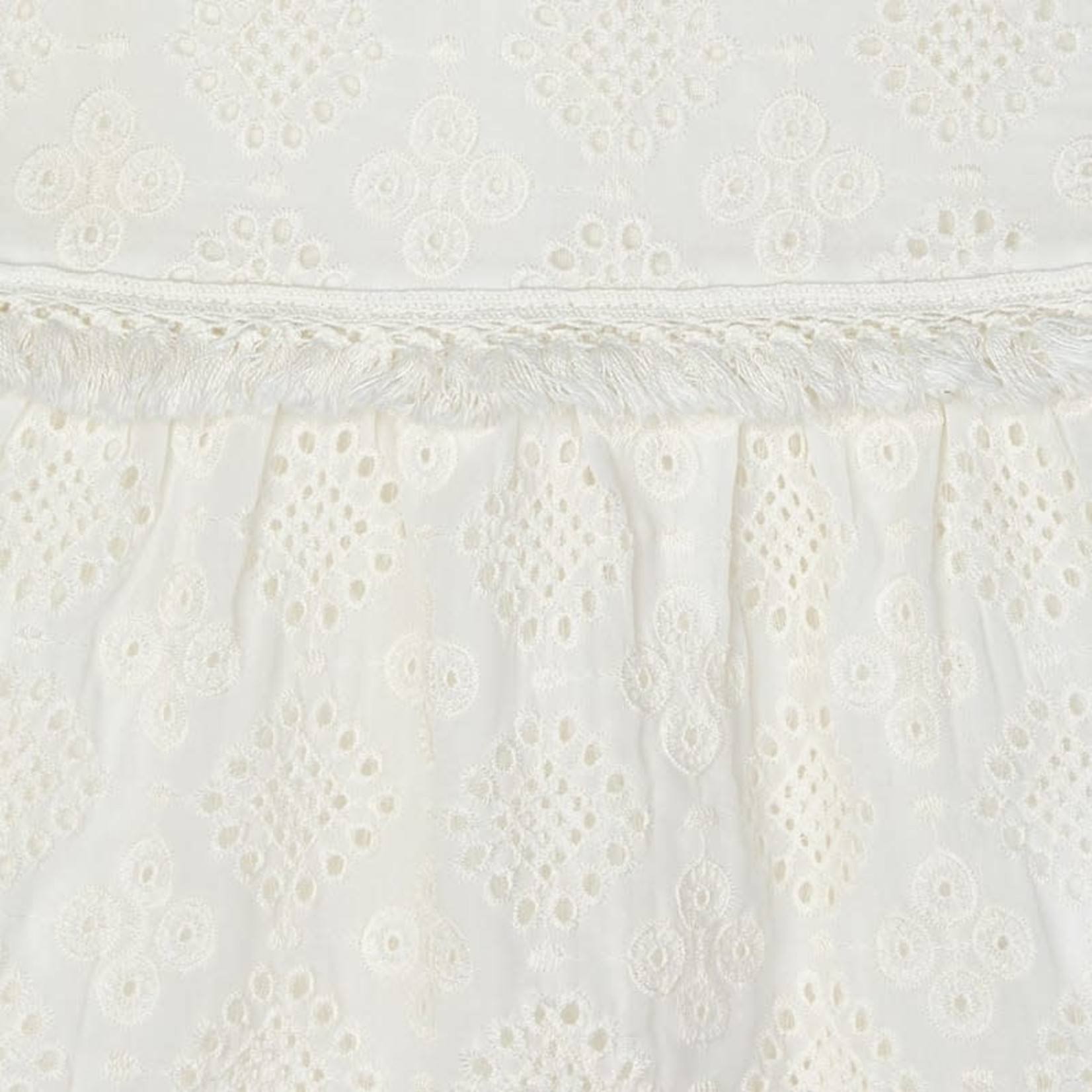 Mayoral chiffon embroidered blouse  Natural