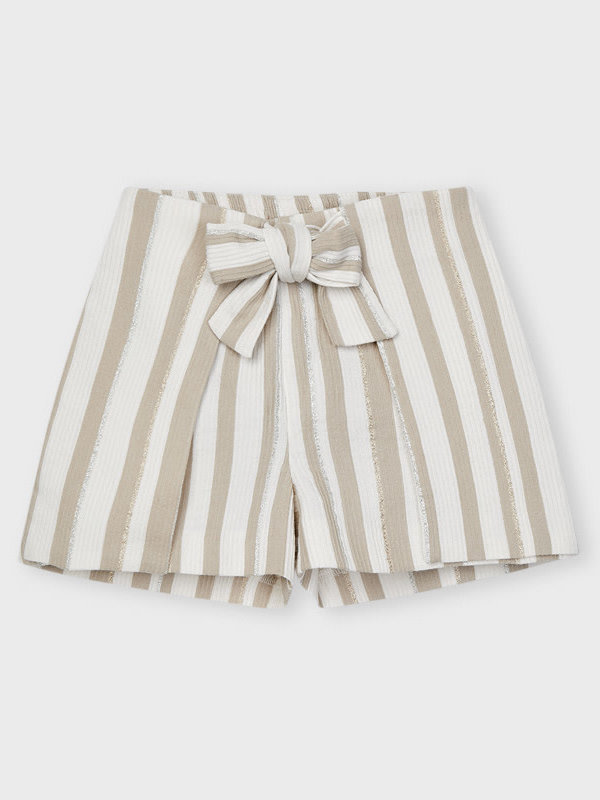 Mayoral striped short pant Camel