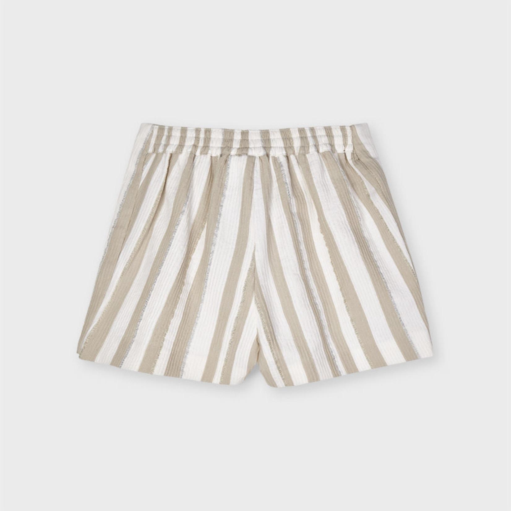 Mayoral striped short pant Camel