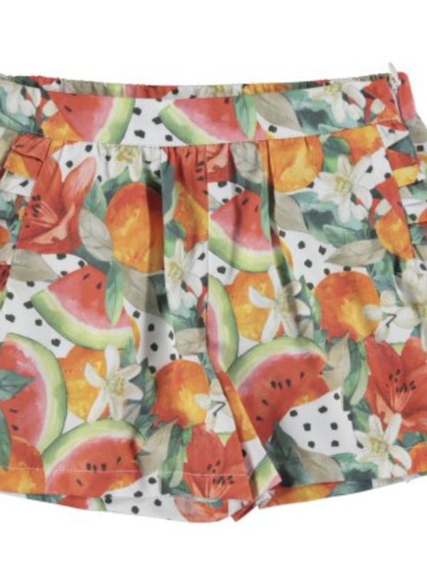 Mayoral Printed skort Persimmon